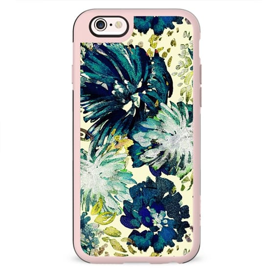 Brushed painted flowers print