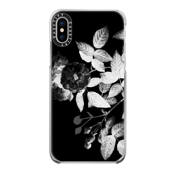 iPhone 7 Plus Cases - Black and white faded x-ray roses