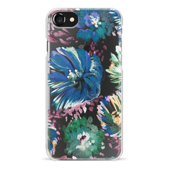 iPhone 6s Cases - Paint brushed flowers clear case
