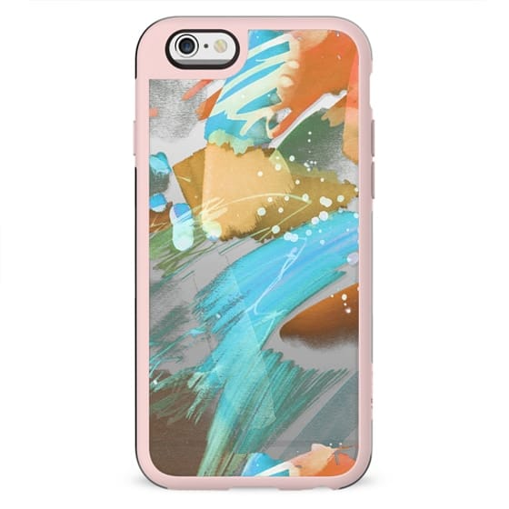 Colorful brushstrokes clear case