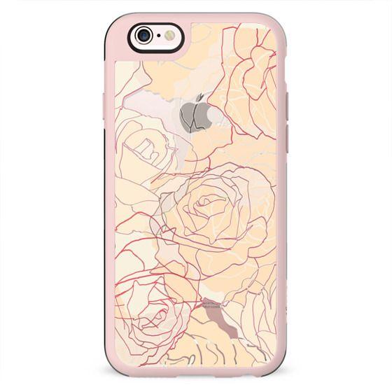 Pastel line art roses elegant