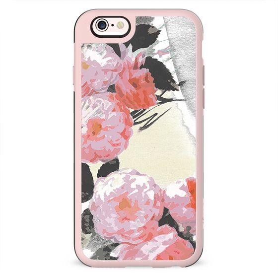 Minimal pink painted roses