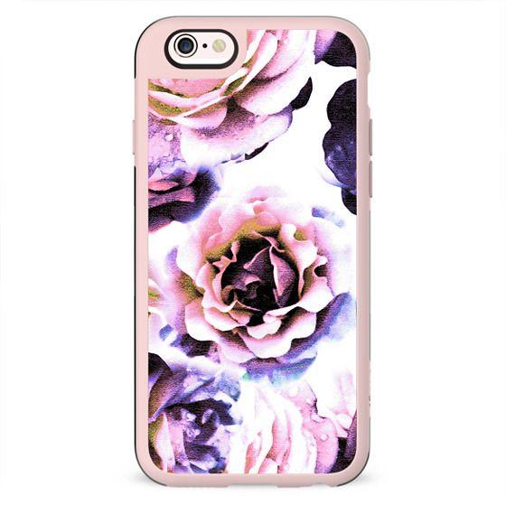 Purple pink rose petals
