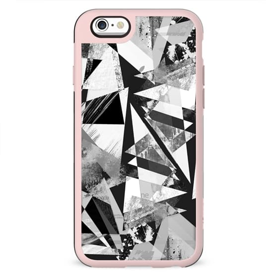 Geometric triangles textured graffitti clear case