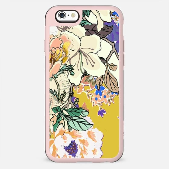 Brigh coloured flowers botanical line art - New Standard Case