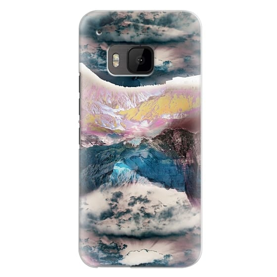 Htc One M9 Cases - Cloudy mountain landscape
