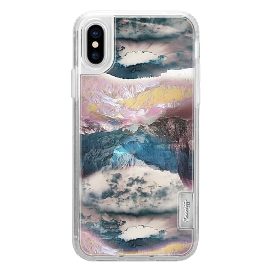 iPhone X Cases - Cloudy mountain landscape