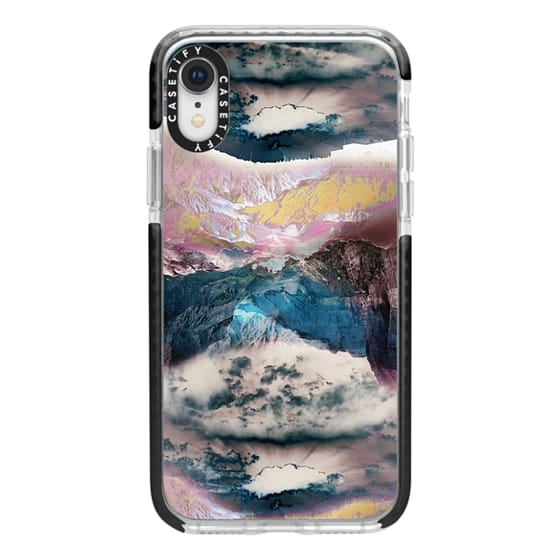 iPhone XR Cases - Cloudy mountain landscape