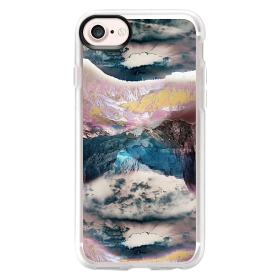 iPhone 7 Cases - Cloudy mountain landscape