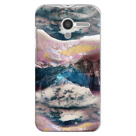 Moto X Cases - Cloudy mountain landscape