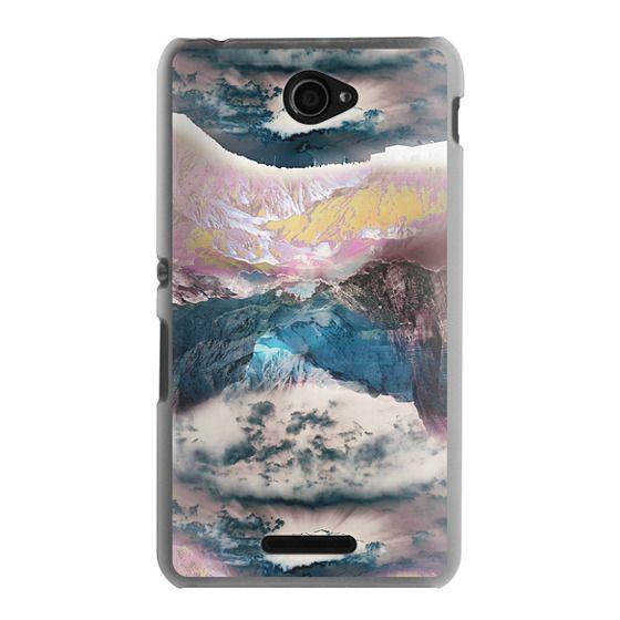 Sony E4 Cases - Cloudy mountain landscape