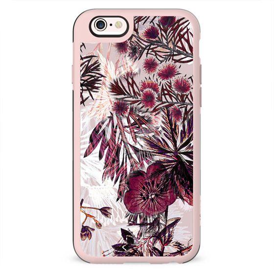 Pink botanical illustration
