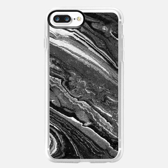 iPhone 7 Plus Funda - Monochrome marble lines