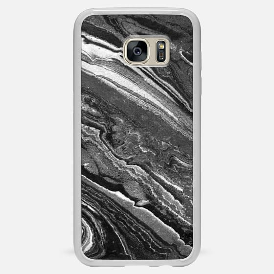 Galaxy S7 Edge Case - Monochrome marble lines