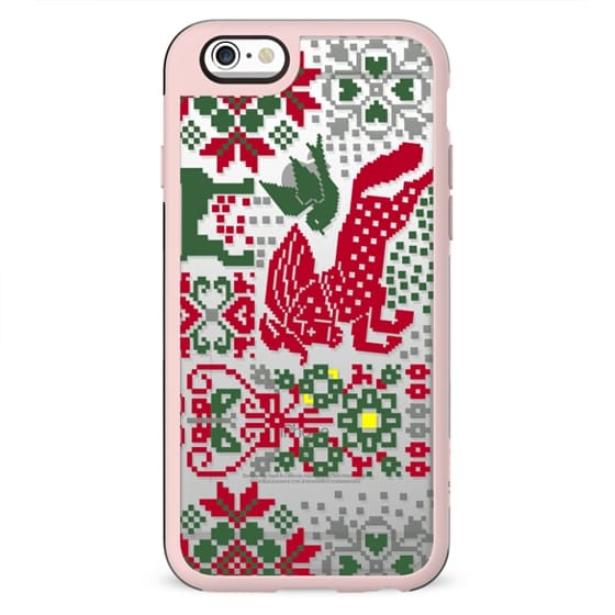 Christmas sweater decorative clear case
