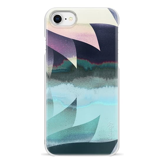 iPhone 7 Plus Cases - Abstract gradient painted lotus