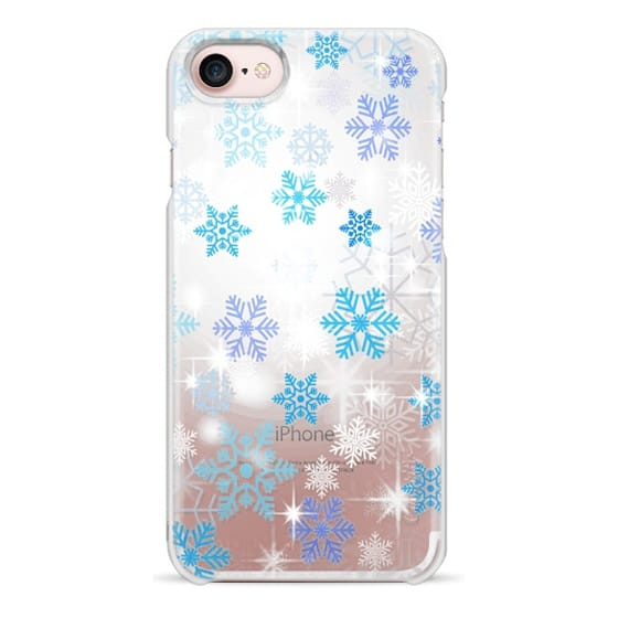 iPhone 6s Cases - Blue white snowflakes sparkle