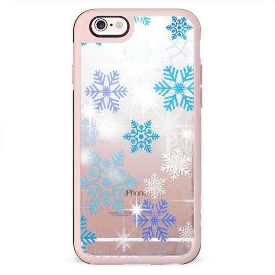 Blue white snowflake sparkle