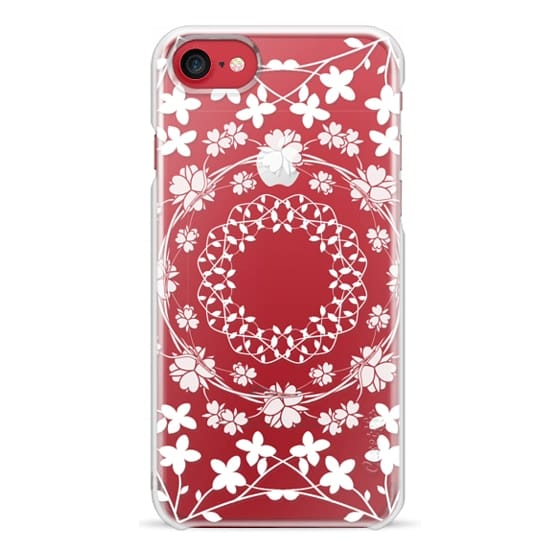 iPhone 6s Cases - White floral mandalas clear case