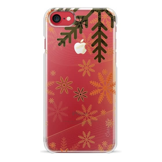 iPhone 6s Cases - Copper snowflakes clear case