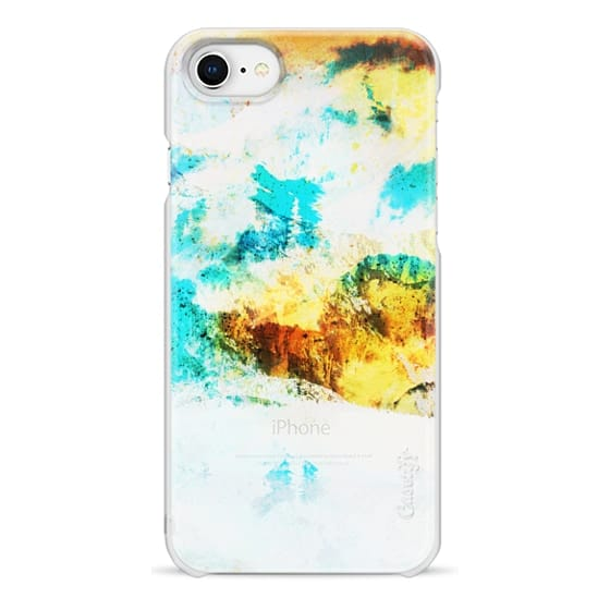 iPhone 7 Plus Cases - Abstract painted landscape transparent