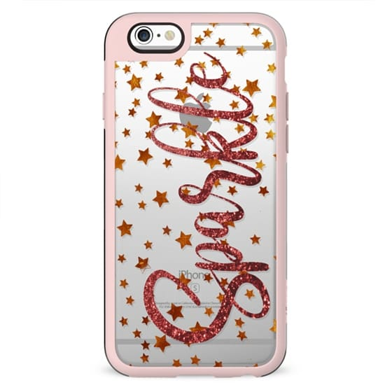 Sparkling stars clear case