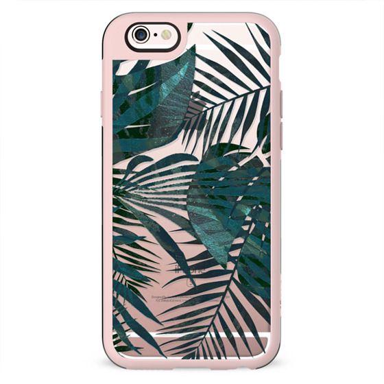 Metallic green tropical leaves II