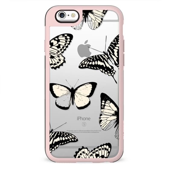 Butterfly drawings pattern clear case