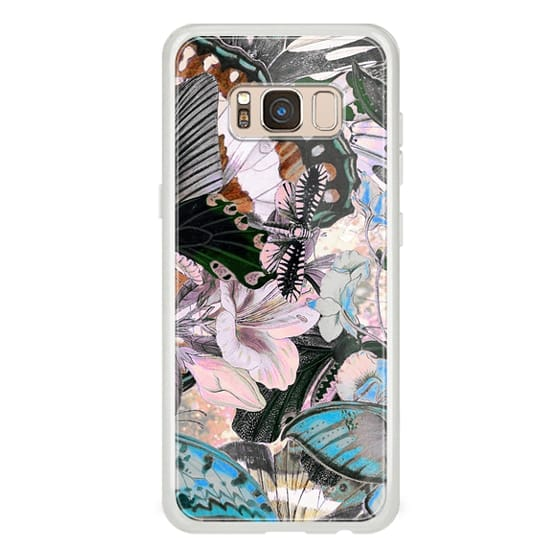 iPhone 6s Cases - Butterfly wings and plants illustration