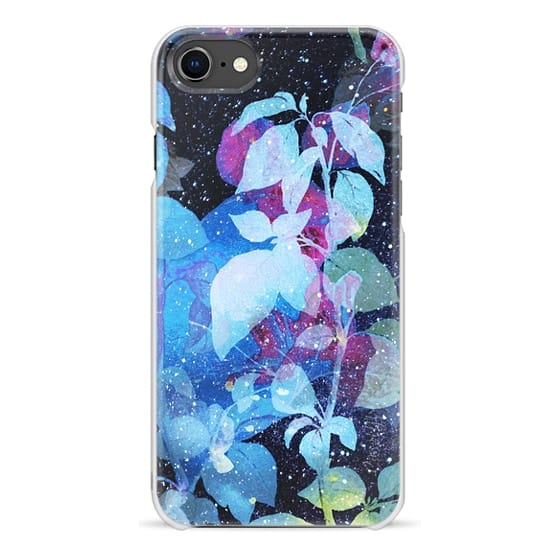 iPhone 7 Plus Cases - Night sky painted watercolor foliage