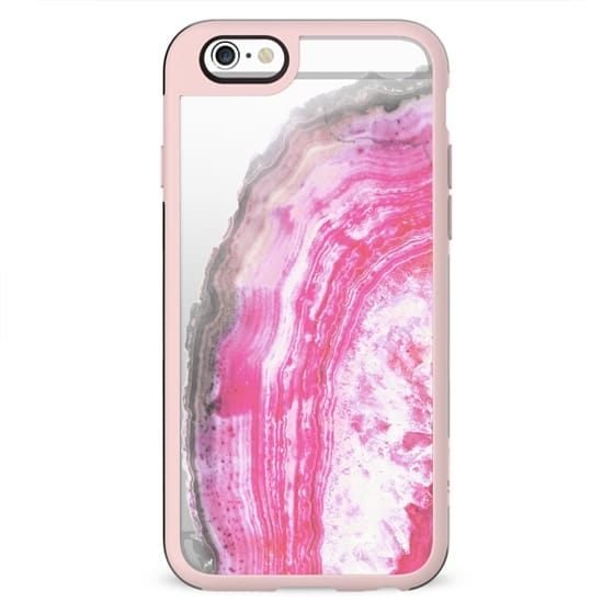 Pink transparent marble