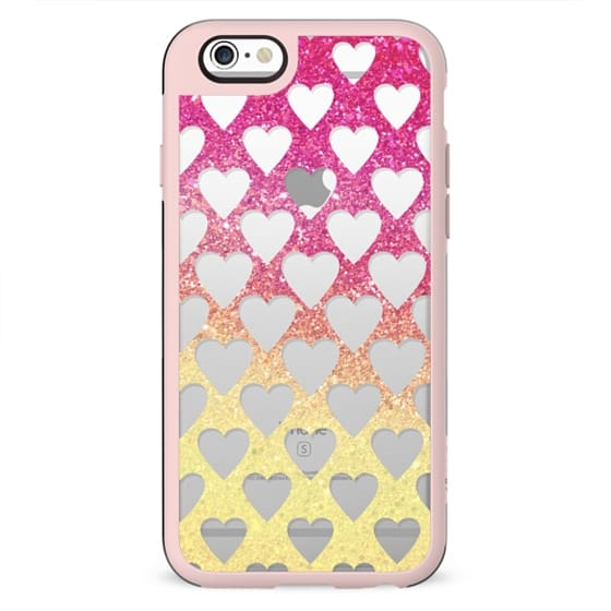 Sweet sparkle cut out hearts