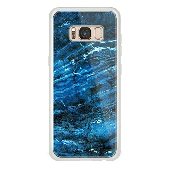 iPhone 6s Cases - Minimal dark blue marble
