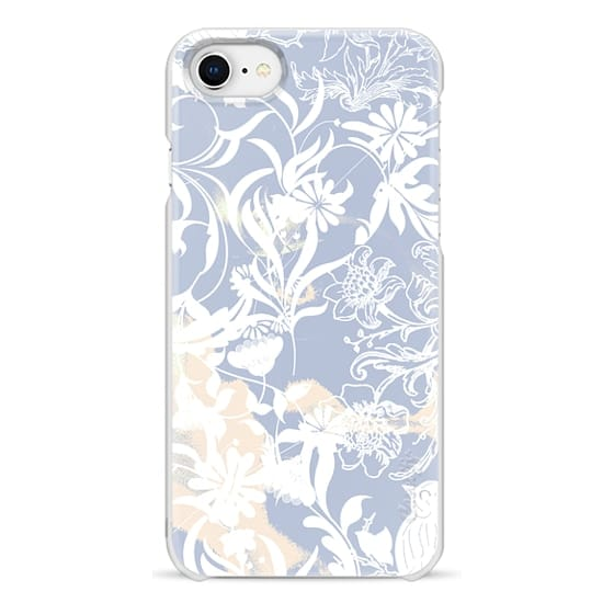 iPhone 7 Plus Cases - Pastel blue white romantic foliage and birds