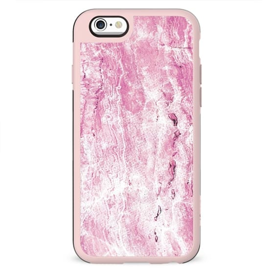 Minimal cracked textured pink stone
