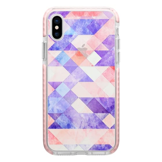 iPhone 6s Cases - Transparent colorful marble triangles and squares clear