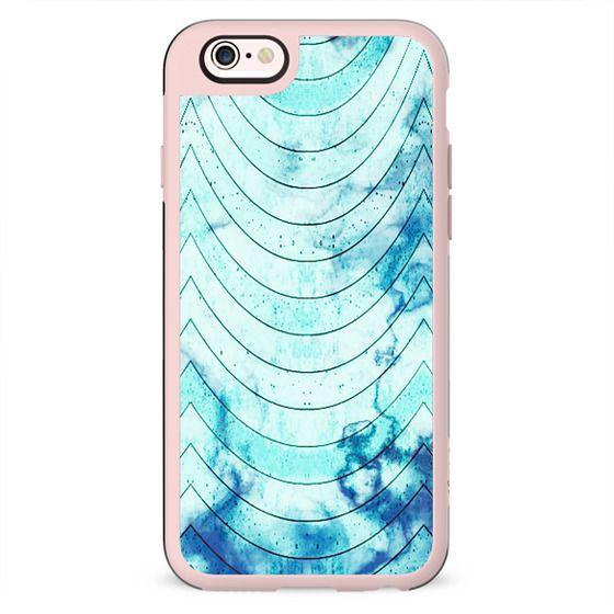 Blue marble geometric waves pattern