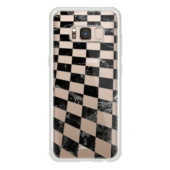 iPhone 7 Plus Cases - Black marble check pattern