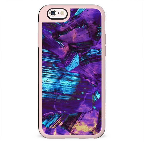 Metallic purple blue stones