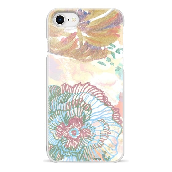 iPhone 6s Cases - Painted watercolor flower doodles