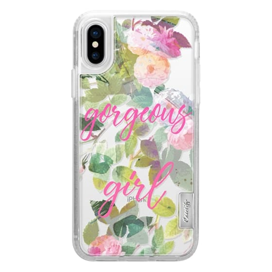 iPhone 7 Plus Cases - Pink painted roses gorgeous girl clear