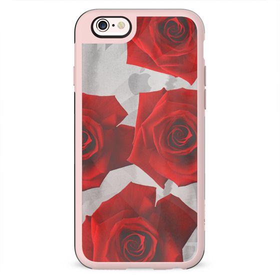 Transparent red roses