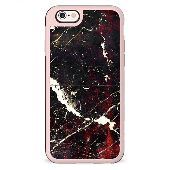 Black copper marble and white cracks