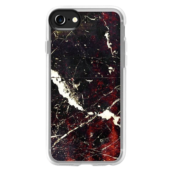 iPhone 6s Cases - Black copper marble and white cracks 2