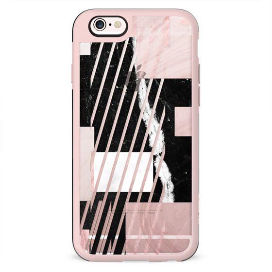 Minimal Geometric marble composition stripes