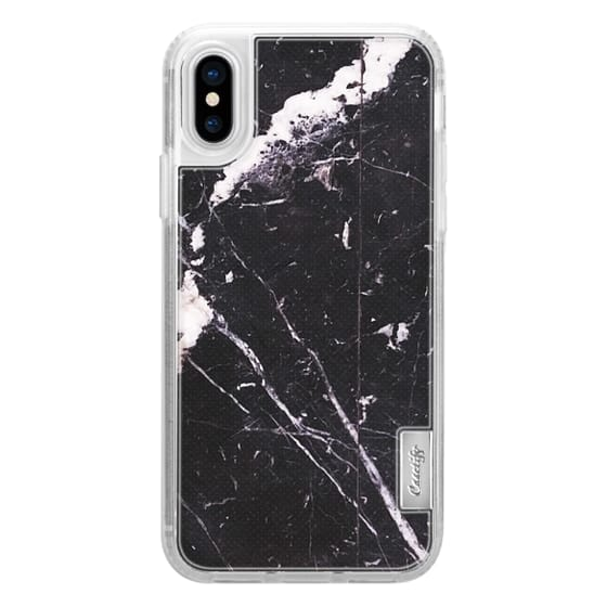 iPhone 6s Cases - Black marble with white cracks