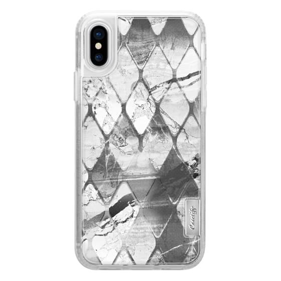 iPhone 6s Cases - Grey marble tile transparent