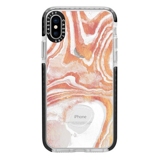 iPhone 7 Plus Cases - Gold white liquid ripple lines marble transparent