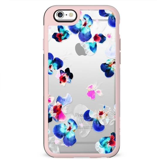 Romantic Transparent blue pink pansy petals