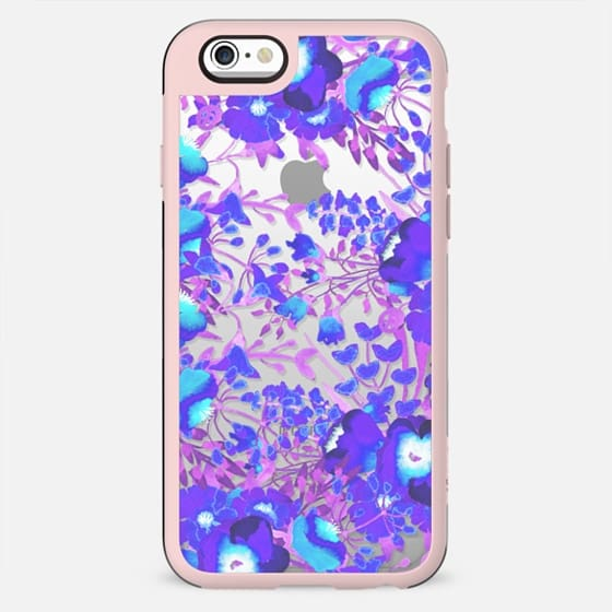 Watercolor flowers purple magenta clear - New Standard Case